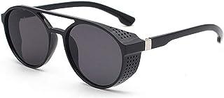 2020 Super Lightweight Windproof Sunglasses Round Steampunk Round Retro Polarized Sunglasses for Men and Women When Mount...