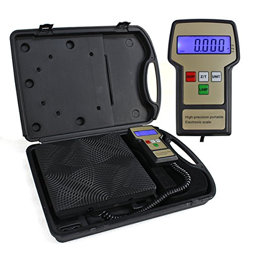 F2C Refrigerant Digital Electronic Charging Weight Scale 220 lbs HVAC Case