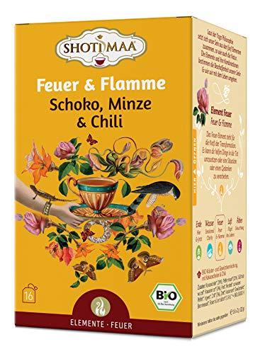 Shoti Maa Bio-Ayurveda-Tee Feuer & Flamme - Schoko, Minze & Chili, 32 g