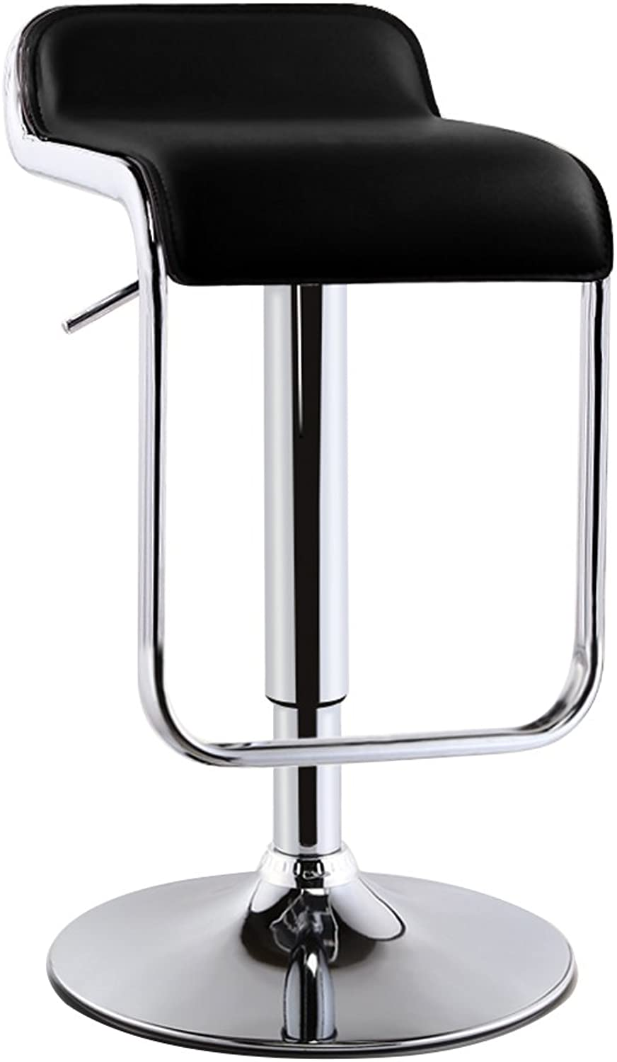SUNHAI PU Leather Adjustable Swivel Gas Lift Bar Stools,360 Degree redary,Max Weight Capacity 130kg,12 colors (color   Black, Size   38.5cm)