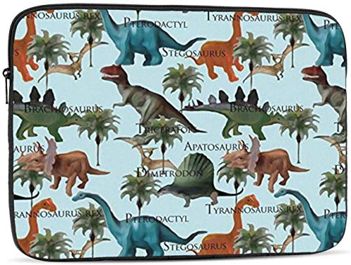 Dinosaurs Laptop Sleeve Bag - Evecase 15 Inch Neoprene Universal Sleeve Zipper Sleeve Cover Case for Notebook