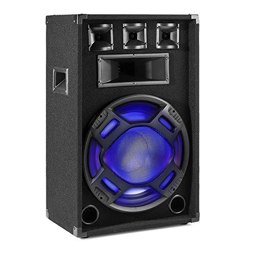 FENTON BS15 Bafle pasivo PA Negro 15' 800W/400W RMS, iluminación de altavoces con led azul