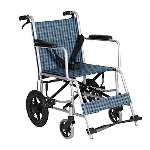 ZXMDP Opvouwbare lichte rolstoel, praktisch, geschikt voor rolstoel, transit reizen, chairfor, geschikt voor mensen met een handicap.