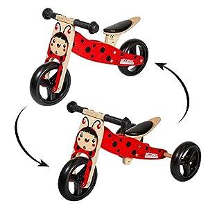 WOOMAX - Bicicleta sin pedales, Triciclo evolutivo, Bici sin pedales Madera, Triciclo bebé 1año, Bici 2 en 1 madera, Triciclo convertible, Moto correpasillos, Triciclos bebés, WOOMAX