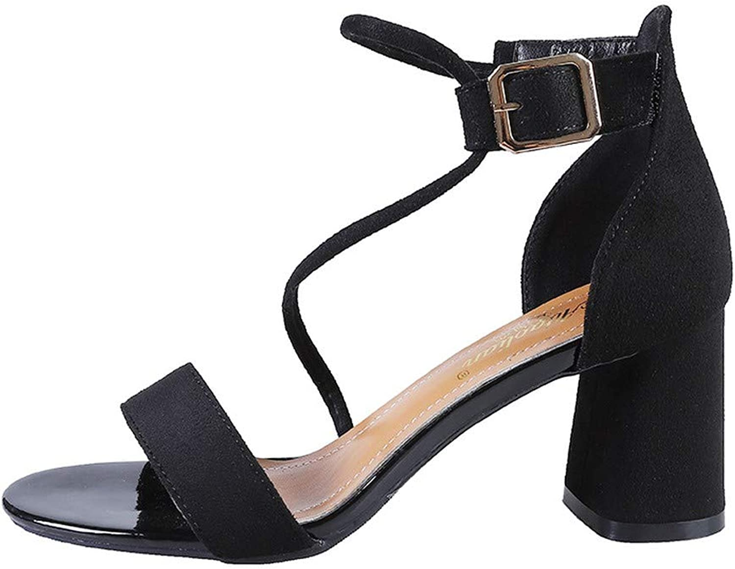 NURJOR Women's Open Toe Heel - Ladies Strappy Sandal with Concealed Orthotic Arch Support