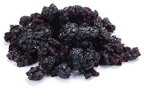Aromatische Bio Brombeeren süß-säuerlich 1 kg für Tee, Müsli und als Snack, Wildsammlung aus Usbekistan, roh, Rohkost, ungesüßt, 100% Natur, sonnengetrocknet (nicht gefriergetrocknet) 1000g
