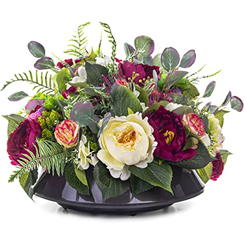 Grabschmuck Blumengesteck Grabgesteck Friedhof Künstliche Blumen Pfingstrose