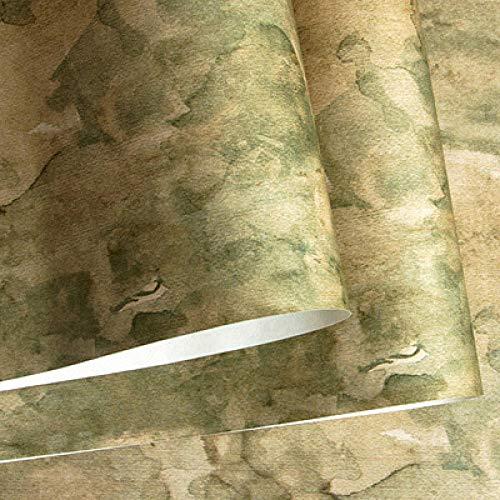 ACCEY Rústico estadounidense Vintge moteado Fondos de pantalla Loft Papel pintado gris azul rollo para comedor Barber Shop Walls@XM66702_5.35