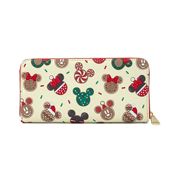 Loungefly Disney Mickey and Minnie Christmas Cookies Wallet