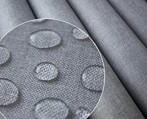 Tukan-tex Polyester PU Wasserabweis Wasserdichter Stoff Gewebe   Oxford 300D   Leinen Look (Hellgrau 1003)