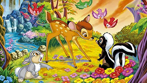QIQILE Pintar Por Numeros Para Adultos Niños Pintura Por Números Con Pinceles Y Pinturas Decoraciones, Diy Pinturas Para El Hogar - Bambi: Póster Del Sexto Grupo