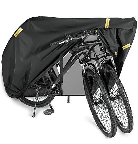 HONZUEN Funda Bicicleta Exterior, Funda para Bicicleta de Tela Oxford 210D Funda Bici Impermeable Sol y Polvo Bicycle Bike Cover Plegable para Bicicleta de Montaña Carretera con Bolsa Almacenamiento