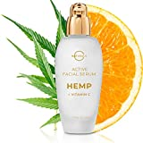 O Naturals Vitamin C Gel Face Serum Brightening Hydrating Moisturizing Organic Hemp Oil Hyaluronic Acid Spot Corrector Anti-Aging Repair Wrinkles Acne Dark Circles Sun Damage Men & Women 1.7oz