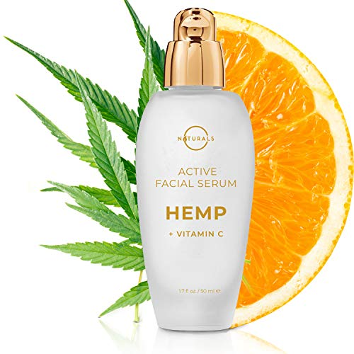 O Naturals Vitamin C Gel Face Serum Brightening Hydrating Moisturizing Organic Hemp Oil Hyaluronic Acid Spot Corrector Anti-Aging Acne Dark Circles Men & Women 1.7oz