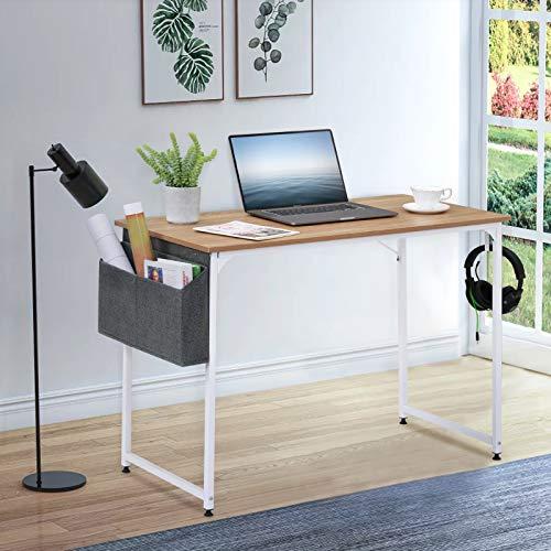 Mesa de escritorio, mesa de estudio para estudiantes, escritorio de escritura, ahorro de espacio, computadora portátil, mesa para el hogar, oficina y estación de trabajo