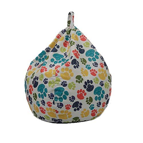 Funda de Puff Pera sin Relleno para Niños Cubierta de Sofá Perezoso Bean Bag Bolsa de Almacenamiento para Sillón Silla Fundas Infantiles de Tumbona Perezosa con Estampado de Animales (1 , 60*75cm )
