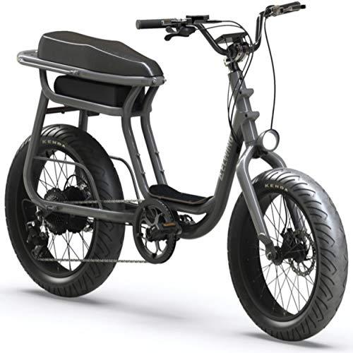 Elwing Yuvy Fun - Bicicleta eléctrica para adulto, hombre, mujer, 2 plazas, hasta 70 km de autonomía – 25 km/h – 150 kg máx.