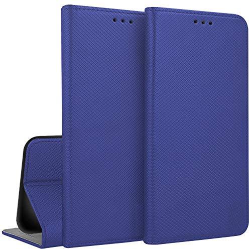 Compatibile PER ASUS Zenfone 3 MAX ZC520TL X008D (5.2) Custodia COVER CASE LIBRO STAND gel SILICONE morbida TPU protezione magnete interno PORTAFOGLIO eco pelle (Blu)