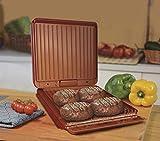 BEST DIRECT Starlyf No Fat Grill Supreme Parrilla Eléctrica Sin Grasa Revestimiento Antiadherente Sin PFOA Inclinación 15° 1000W 27.5 x 27.5 x 12.8 cm