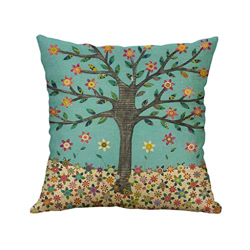 VECDY Cojines Decoracion, Suave Simple Lino Creative Lovely Pillow Cover Funda De Almohada Duradero Car Pillow Cover para Coche Bar Pub(con exclusión de Almohada) 45X45cm-E