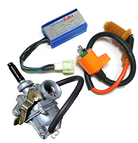 Auto-Moto Carburetor & Performance CDI Box Ignition Coil for Honda CRF 50 CRF50 2004-2009