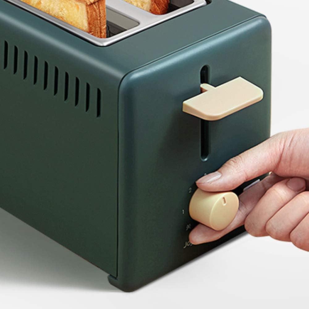 ZHANGXIAOYU Grille-pain pain grillé tranche grille-pain grille-pain ménage petit mini machine petit multifonction (Color : Pink) Green