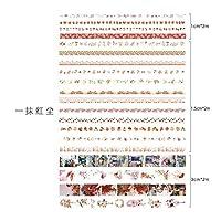 RBRYP Coloffice 20 Rollesセット韓国マスキングテープカラフルな印刷ハンドブック素材デコレーションステッカーテープ学生文具 使いやすく操作も簡単 (Color : 5)