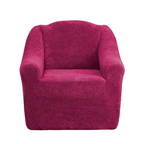 Mixibaby Sofabezug Sofahusse Sesselbezug Sitzbezug Sesselüberwurf Husse 1er Sofa Wellsoft, Farbe:weinrot