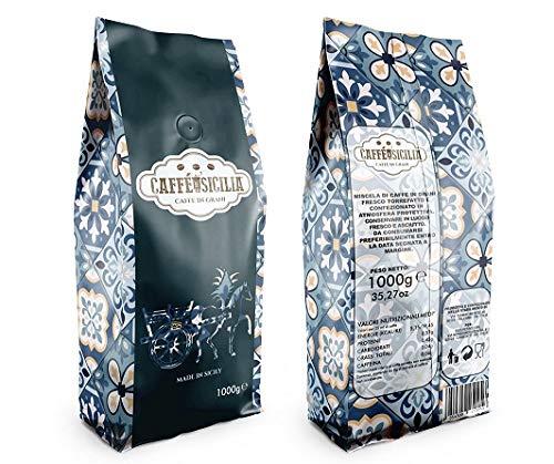 CAFFE  DI SICILIA , Caffè in Grani, Chicchi di caffè tostati, 1kg