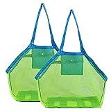 Uniqal Paquete de 2 bolsas de playa de malla para niños,...