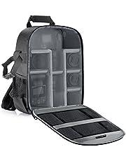 Neewer® Flexibele scheidingswand camera gevoerde rugzak tas stoot- insert bescherming voor SLR DSLR spiegelloze camera's en lenzen, flitslicht, draadloze activering en andere accessoires (binnengrijs)