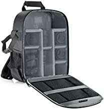 Neewer Camera Backpack Flexible Partition Padded Bag Shockproof Insert Protection for SLR DSLR Mirrorless Cameras and Lenses, Flash Light, Radio Triggers,and Other Accessories (Gray Interior)