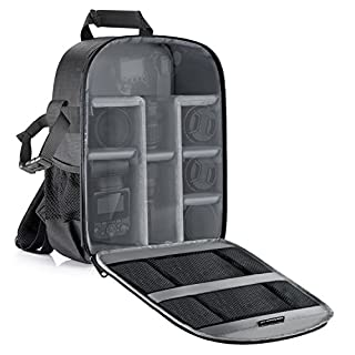 Neewer Camera Bag Water Resistant Shockproof Partition 11.8x5.5x14.6 inches/30x14x37 centimeters Protection Backpack for SLR DSLR Mirrorless Camera, Lens, Battery and Other Accessories (Gray Interior) (B01HGDFWU6) | Amazon price tracker / tracking, Amazon price history charts, Amazon price watches, Amazon price drop alerts