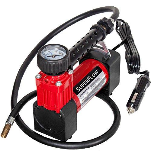 SuperFlow Portable Air Pump, 12 volt Air Compressor, Tire...