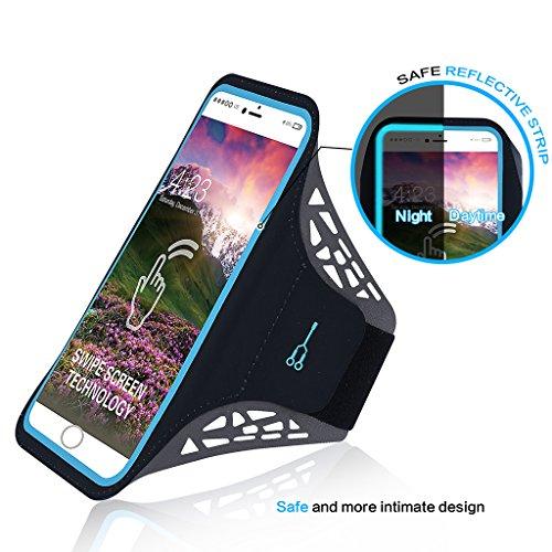 Qrity Brazalete del teléfono celular con toque de huella dactilar, Brazalete del teléfono de la…