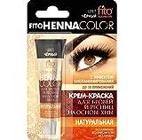 Fitokosmetik Henna Cremefarbe für Augenbrauen und Wimpern Farbe schwarz ohne Ammoniak mit...