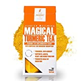 Jessica Wellness Turmeric Tea 4 Oz - Anti-Inflammatory Organic Turmeric Curcumin Tea with Ginger And Bioperine for Improved Absorption - 60 Servings - Joint Support & Stress Relief