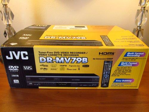 JVC DRMV79B Tunerless 1080p Upconverting DVD Recorder VCR Combo