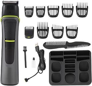 Elektrische haar-clippers trimmer-kit: oplaadbare tondeuse set met kamsmeermiddel - oliereinigingsborstel reservekoppen ve...