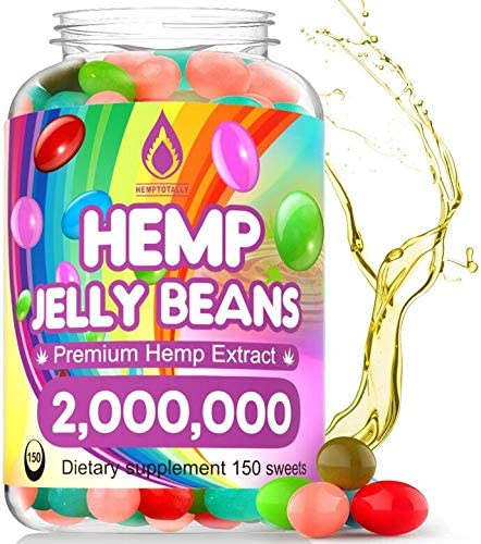 Hemp Jelly Beans for Stress Anxiety 2 000 000 Premium Hemp Supplement to Reduce Inflammation product image