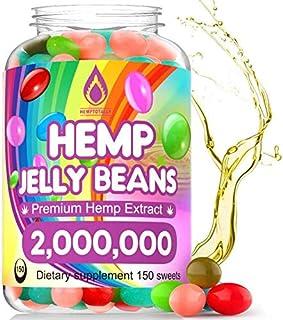 Hemp Jelly Beans for Stress & Anxiety 2,000,000 Premium Hemp Supplement to Reduce Inflammation, Improve Sleep, Boost Mood ...