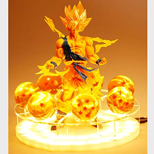 Dragon Ball Z Son Goku Led Licht Lampe Geist Bombe Figuren Anime Dragon Ball Z Goku Super Saiyajin Dekor...