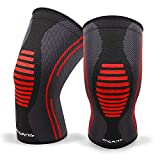 Knee Compression Sleeve, 1 Pair, Best Knee Brace Support for Running & Arthritis, Squats & Workouts,...