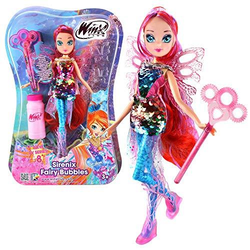 Winx Club Bloom | Sirenix Fairy Bubbles Bambola Fata 28 cm | Bolle di Sapone