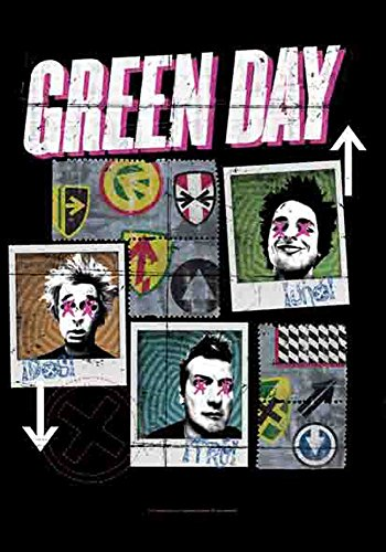 Poster Green Day - UNO, DOS, TRE - 100 % polyester - 75 x 110 cm