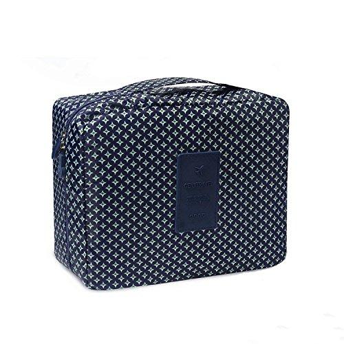 Amoyie Trousses de toilette de 2 pièces (brosses à dents couvertures voyage + trousse), Maquillage Trousse de Toilette Sac à cosmétique sac organisateur pour Femmes et Filles