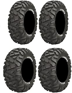 Full set of Maxxis BigHorn Radial 26x9-12 and 26x12-12 ATV Tires (4)