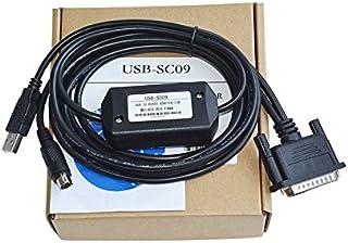 كابل برمجة USB PLC من Washinglee FX ومسلسل Mitsubishi FX وA ، لاستبدال USB-SC09 ، مع 8 سنون مستديرة وDB25 ذكر ، 6 أقدام ، ...