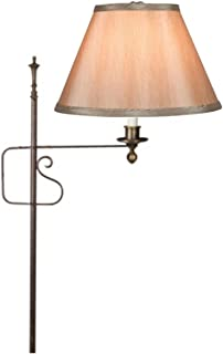 Upgradelights Clip On 10 Inch Lamp Shade Replacement in Tan Silk (6x10x7.5)