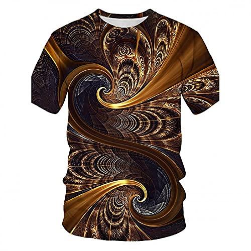 T-Shirt Hombre Moderna Urbana Tendencia Moda 3D Impresión Verano Hombre Casuales Camisa Color Sólido Cuello Redondo Regular Fit Manga Corta Shirt Diario All-Match Deportiva Camisa M-005 6XL